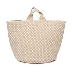 Cadogan Check Storage basket, 70 x 40cm, mushroom