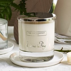 Lime & Bay Signature candle, H8.5 x W7 x L7cm