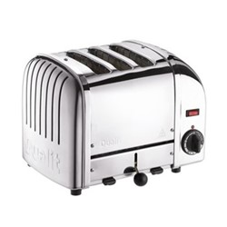 Classic Vario 3 slot toaster, polished stainless steel