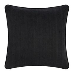 Silk cushion, 45 x 45cm, black