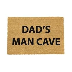Funny Doormat - Dad's Man Cave, black/brown