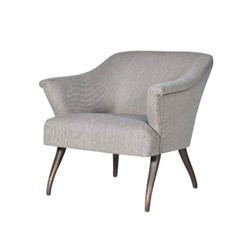 Easy chair, 74 x 65 x 80cm, beige pinstripe
