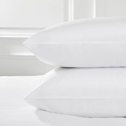 Savoy - 400 Thread Count Egyptian Cotton Super king pillowcase (no border), 50 x 90cm, white