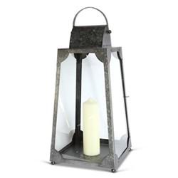 Trapezium Medium lantern, H71 x L30 x D30cm, galvanised steel