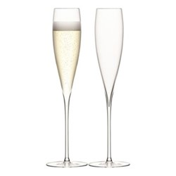 Savoy Pair of Champagne flutes, 200ml, clear