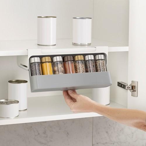 CupboardStore Spice rack, H9.5 x W32 x D13.5cm, dark grey/ grey