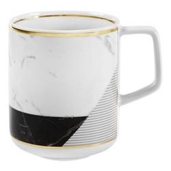 Carrara Mug, D8 x H10cm, black/white