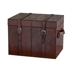 Leather Small Trunk, 30 x 40 x 30cm, conker