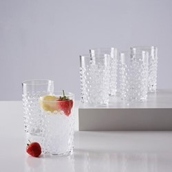 Bobble Set of 6 glass tumblers, 20cl, clear
