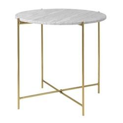 Magne Round coffee table, Dia40 x H45cm, beige/brass