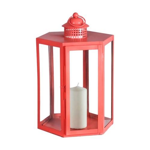 Indoor/Outdoor Lantern, W25 x D41 x L27cm, Coral