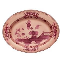 Oriente Italiano Oval platter, 34cm, vermiglio