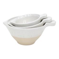 Fattoria Set of 3 measuring cups, white