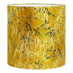 Three Grasses Pendant lampshade, 36 x 36cm, turmeric/storm