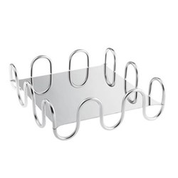 Kyma Square serving tray, L26 x W26 x H8.5cm, stainless steel