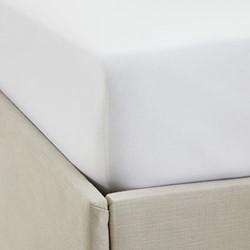 Single Row Cord - 200 Thread Count Egyptian Cotton Double fitted sheet, W140 x L190 x D30cm, white