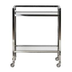 Manhattan Drinks trolley, W65 x D40 x H80.5cm, stainless steel/clear glass