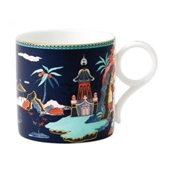 Wonderlust - Pagoda Mug, H8.4 x W8.6 x D12.1cm, blue
