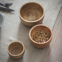 Midford Set of 3 bowls, Dia 9 x 12 x 15cm, mango wood