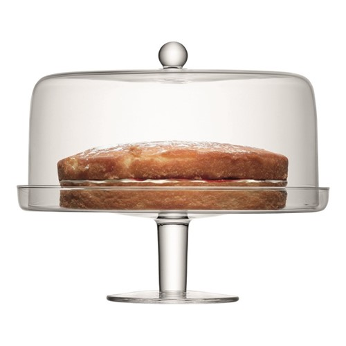 Klara Cakestand and cover, 33/30cm, clear