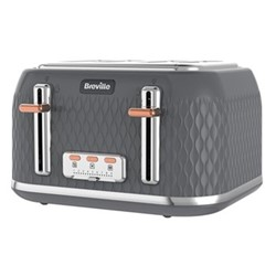 Curve - VTT912 Toaster, 4 slice, grey & rose gold