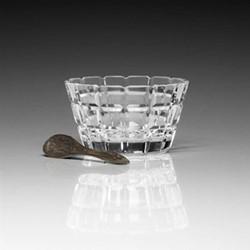 Blodwyn Salt dish and spoon, 9cm, crystal