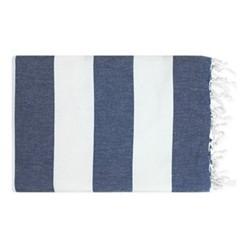 Lightweight Beach towel, 95 x 160cm, blue/ white