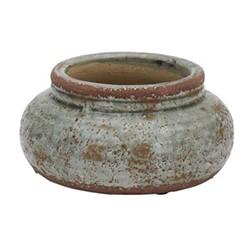 Broseley Low pot, H10 x Dia22cm, moss