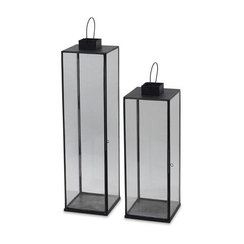 Sia Small lantern, 58 x 20 x 20cm, antique black