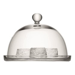 Vienna Plate and dome, 25/22.5cm, clear
