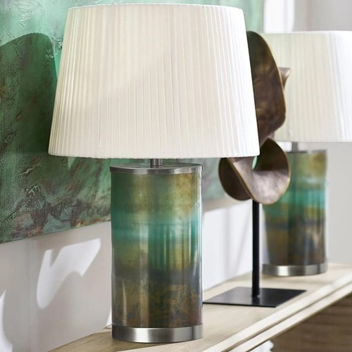 Olja Table lamp - base only, Dia20 x H42cm, green lustre