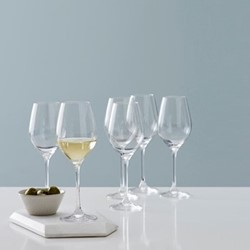 Beaumont Set of 6 white wine glasses, 360ml, clear crystal