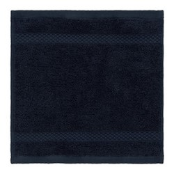 Egyptian Cotton Set of 3 face cloths, 30 x 30cm, navy