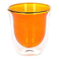 Colour Pair of cappuccino glasses, 300ml, amber
