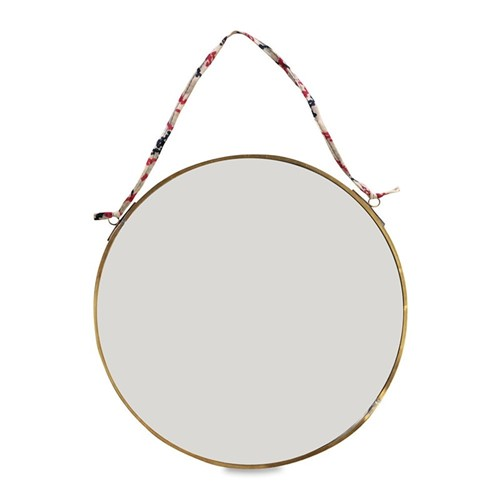 Kiko Round mirror, D0.5 x 26.5cm, antique brass