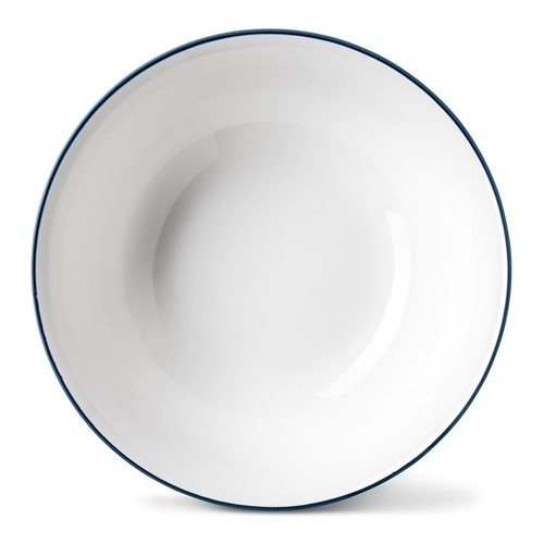 Rainbow Collection Cereal bowl, Dia16 x H5.5cm, marine blue rim