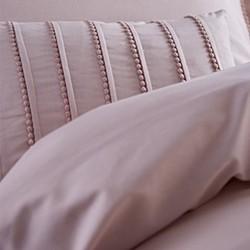 Pom Pom King size duvet set, 220 x 230cm, blush