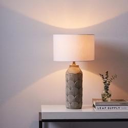 Marylebone Table lamp with shade, H53 x Dia27.5cm, grey
