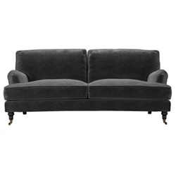 Bluebell 3 seater sofa, H91 x W218 x D106cm, armour