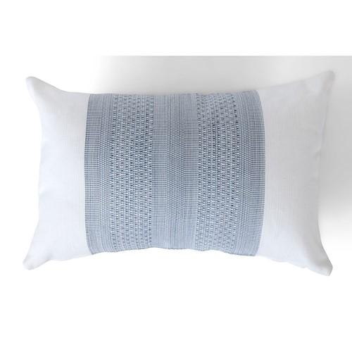 Evie Geometric Outdoor cushion, H55 x W35cm, Flax