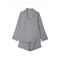 Pyjama shorts set - small, midnight stripe