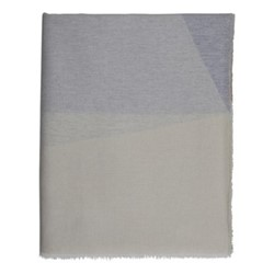 Geometric Merino throw, 190 x 140cm, taupe/grey