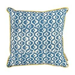 Small Medallion Cushion, 50 x 50cm, azure