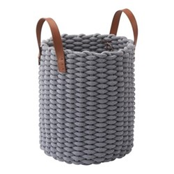 Rudon Storage basket, L30 x W30 x H45cm, grey