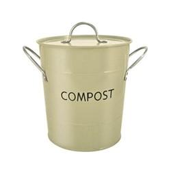 Compost pail, 26 x 20cm, sage