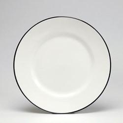 Dessert plate, 21cm, black/white