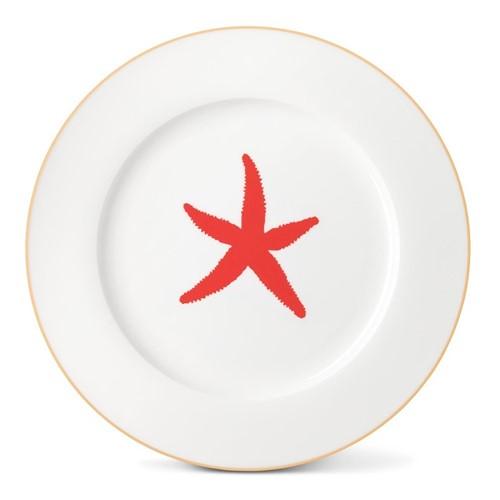 Starfish Dinner plate, Dia26cm, gold rim