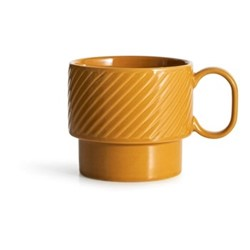 Coffee & More Tea mug, 400ml, yellow