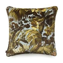 Limerence Large velvet cushion, 60 x 60cm, sky
