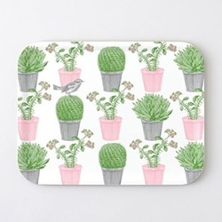 Cactus & Bird Large tray, 43 x 33cm
